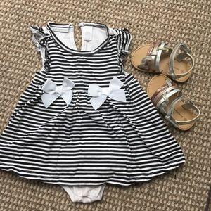 First Impressions striped dress/romper 18M